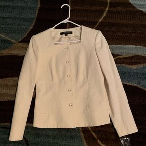 Anne Klein Winter white sparkle skirt suit. NWT